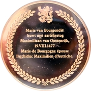 Token - The history of Belgium in 100 medals (Marriage of Mary of Burgundy and Maximilian of Habsburg) – reverse