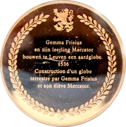 Token - The history of Belgium in 100 medals (Gemma Frisius and Mercator) – reverse