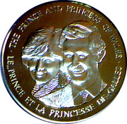 Token - The Prince and Princess of Wales – obverse