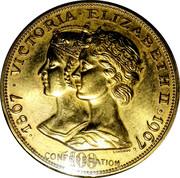 Medal - Confederation Centennial (Victoria & Elizabeth II; Color Gold) – obverse