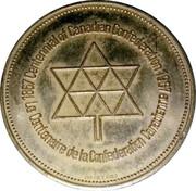 Medal - Confederation Centennial (Victoria & Elizabeth II; Color Gold) – reverse