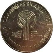 Birthday Dollar - Los Angeles Bicentennial (Entertainment Capital of the World) – reverse
