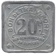 20 Centimes - Tramways de Nantes – reverse