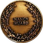 Medal - Nancy Huard (1985 24 June Le Québec en fêtes) – reverse