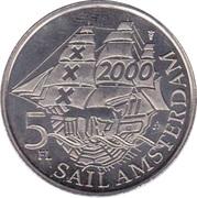 "5 Florijn - Sail Amsterdam 2000 (""Dar Mlodziezy"") – reverse"