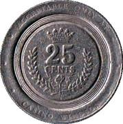 25 Cent Gaming Token - Casino Windsor – reverse