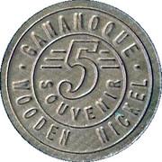 Wooden Nickel - Canadian Gateway Gananoque – reverse