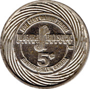 5 Cent Gaming Token - Niagara Casino – reverse