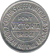 Token - Victoria Bridge – reverse