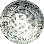 Token - Les autobus Boulais LTEE (St. Jean de Richelieu) – reverse