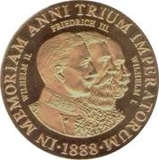 Token - In Memoriam Anni Trium Imperatorum – obverse