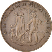 Token - Expulsion of 50 small German brothers – obverse
