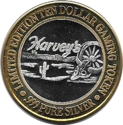 10 Dollar Gaming Token - Harvey's Casino (Lake Tahoe, Nevada) – obverse