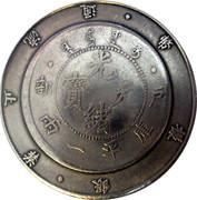Token - 34th year of Kuang Hsu (Pei Yang; 1899 to 1908) – reverse