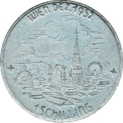 1 Schilling (Peoples' congress for peace) – reverse