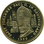Token - 40 Jahre Bundesrepublik Deutschland (Pope IIoannes Paulus II in Germany) – obverse