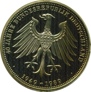 Token - 40 Jahre Bundesrepublik Deutschland (Pope IIoannes Paulus II in Germany) – reverse