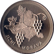Mint Set Token 2014 - South Moravian Region – reverse