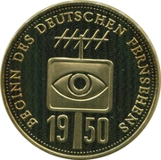 Token - Deutschland (Beginning of the German television) – obverse