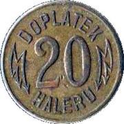 20 Haleru - Elektrické Dráhy (Prague) – reverse