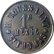 1 Cent - H. Toussaint (St. Thomas) – obverse