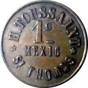 1 Cent - H. Toussaint (St. Thomas) – reverse