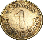Parking Token - Palads Parkering (1 Times) – obverse