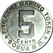 5 Cent Gaming Token - Playa Chiquita – obverse