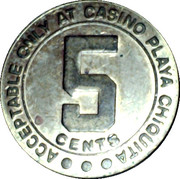 5 Cent Gaming Token - Playa Chiquita – reverse