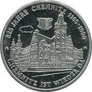 Token - 825 years of Chemnitz – obverse