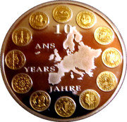 Token - 10 years of the Euro – obverse