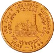 Token - 150 years of German Railroads (Ruhr 1840) – reverse