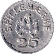 25 Spillemærke - Finansierings Aktieselskabet – reverse