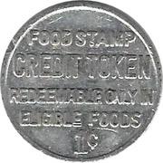 1 Cent - Food Stamp Credit Token (Penn Fruit) – reverse