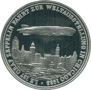 Token - Zeppelin in Chicago world's fair – obverse