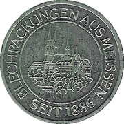 Token - VEB Blechpackung Meissen – reverse