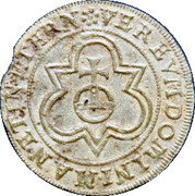 Counter Token (globe and cross; Nurembreg) – reverse
