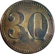30 Pfennig (Wert-Marke; Countermarked