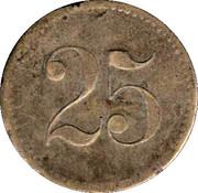 25 Wertmarke – reverse
