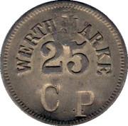 """25 Pfennig (Werth-Marke; Countermarked """"CP"""") – obverse"""
