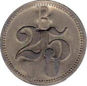 """25 Pfennig (Werth-Marke; Countermarked """"CP"""") – reverse"""