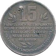 Token - Karl A. Lingner 15 Warenpunkte 1932 – reverse