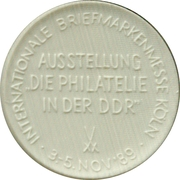 Token - Philatelia '89 – reverse