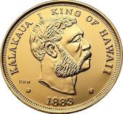 1 Dollar - Kalākaua (Souvenir Token) – obverse