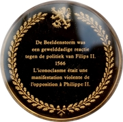 Token - The history of Belgium in 100 medals (Iconoclasts) – reverse