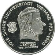 Token - 1015 years of Friedrich V. Schiller – obverse