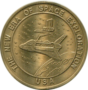 Token - The New Era of Space Exploration (STS-52 Columbia) – reverse
