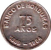 Mint Token (75 Anniversary Bank of Honduras) – reverse