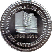 Medal - XXV Anniversary of Central Bank of Honduras 1950-1975 – obverse