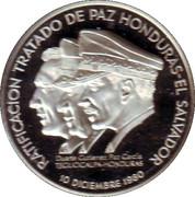 Medal - Honduras - El Salvador Peace Treaty 1980 – obverse